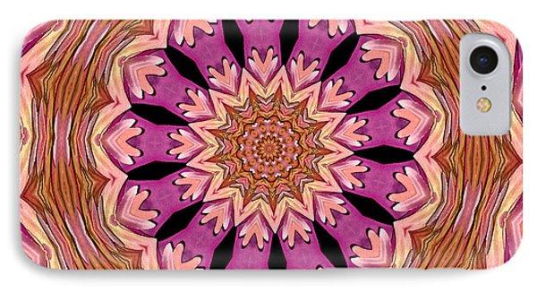 Waterlily Flower Kaleidoscope 2 IPhone Case by Rose Santuci-Sofranko