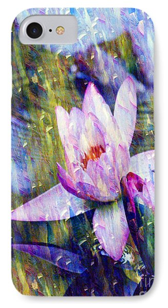 Purple Waterlily Paradise IPhone Case by Carol F Austin