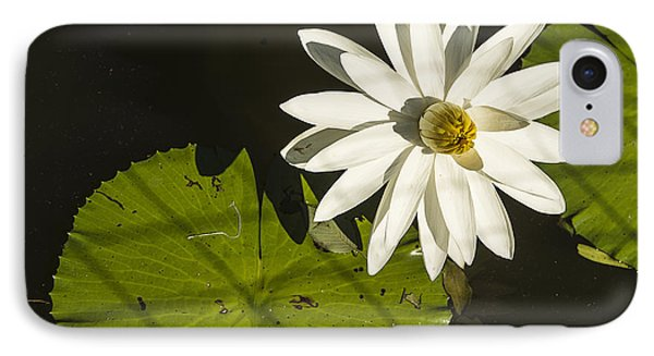 IPhone Case featuring the photograph Waterlily Through A Fence by Terry Rowe