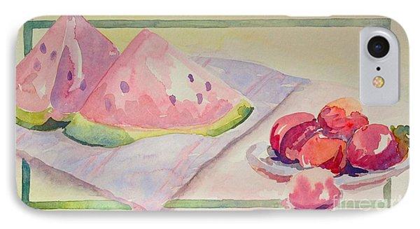 Watermelon IPhone Case by Marilyn Zalatan