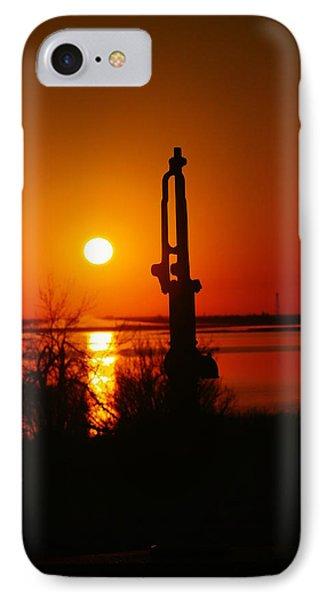 Waterpump In The Sunrise Phone Case by Jeff Swan