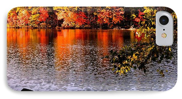 Waterside In Autumn IPhone Case by James Potts