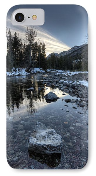 Waterton River In Winter IPhone Case