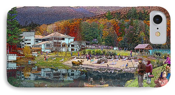 Waterville Estates In Autumn IPhone Case by Nancy Griswold