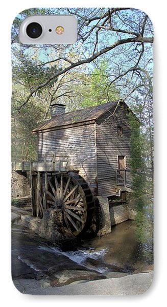 IPhone Case featuring the photograph Waterwheel At Stone Mountain by Gordon Elwell