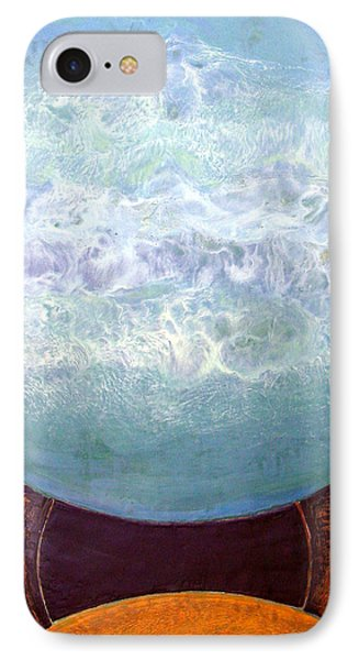 IPhone Case featuring the painting Waterworld by Carolyn Goodridge
