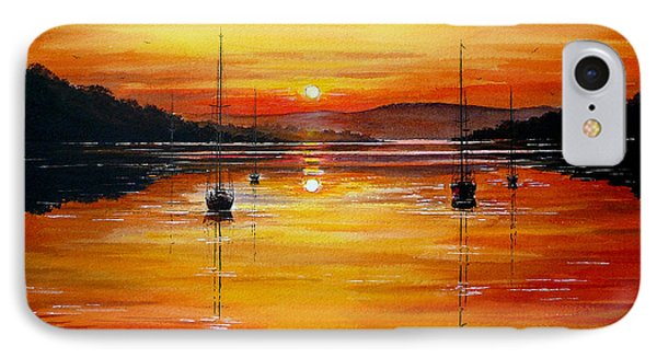 Watery Sunset At Bala Lake Phone Case by Andrew Read
