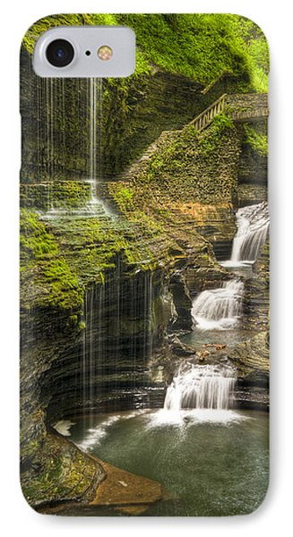 Watkins Glen Falls Phone Case by Anthony Sacco