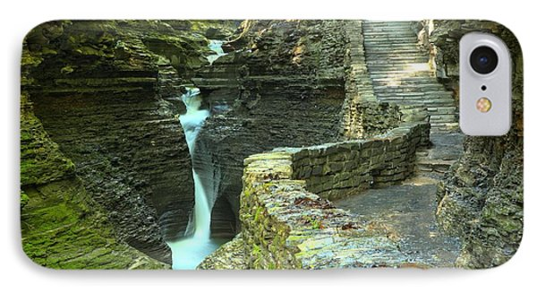 Watkins Glen Gorge Trail IPhone Case by Adam Jewell