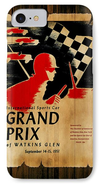 Watkins Glen Grand Prix 1951 IPhone Case by Mark Rogan