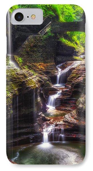 Watkins Glen Rainbow Falls Phone Case by Mark Papke