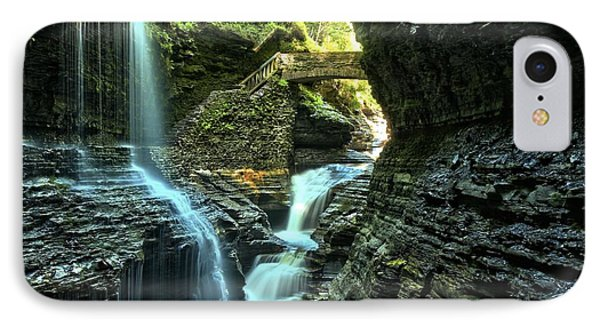 Watkins Glen Waterfalls IPhone Case by Adam Jewell