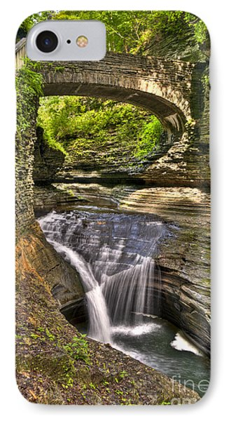 Watkins Glen Waterfalls IPhone Case by Anthony Sacco