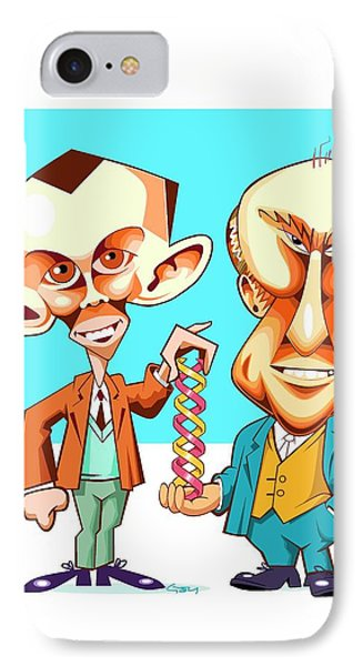 Watson And Crick IPhone Case by Gary Brown