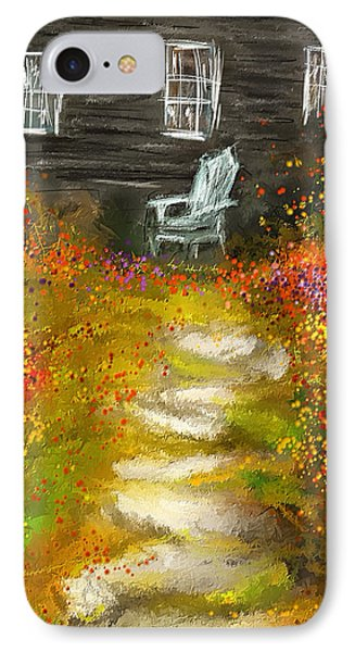 Watson Farm - Old Farmhouse Painting IPhone Case by Lourry Legarde