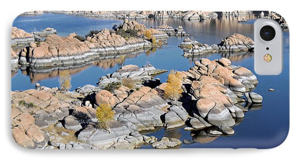 Watson Lake And The Granite Dells IPhone Case by Jim Chamberlain