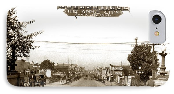 Watsonville California  The Apple City Circa 1926 IPhone Case by California Views Mr Pat Hathaway Archives