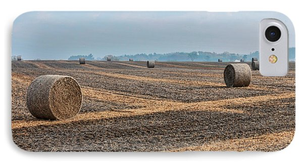 IPhone Case featuring the photograph Waupaca Straw Rolls by Trey Foerster