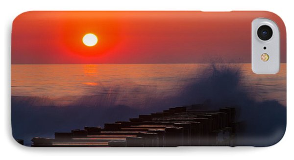 Breaking Wave At Sunrise IPhone Case by Allan Levin
