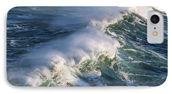 Wave Breaking At Shore Acres State Park IPhone Case by Robert L. Potts