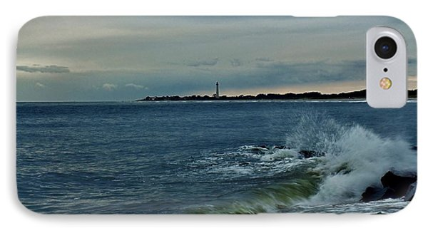 IPhone Case featuring the photograph Wave Crashing At Cape May Cove by Ed Sweeney