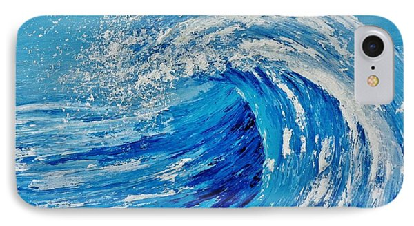 IPhone Case featuring the painting Wave by Katherine Young-Beck