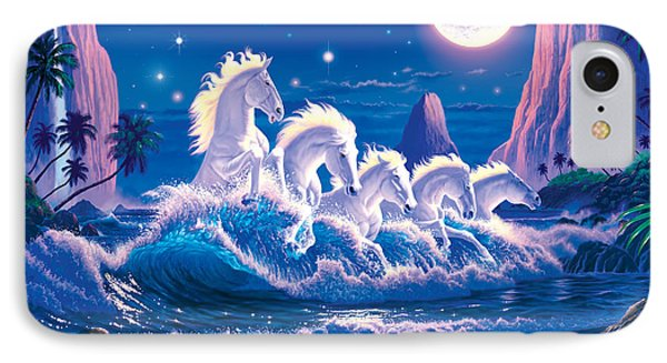Wave Of Horses IPhone Case by Chris Heitt