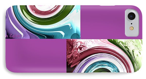 Wave Of Purple IPhone Case by Ann Calvo