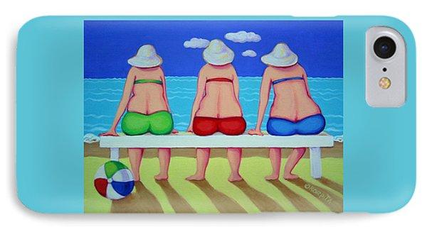 Wave Watch - Beach IPhone Case by Rebecca Korpita