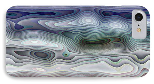 Abstract Waves 15 IPhone Case by Walt Foegelle