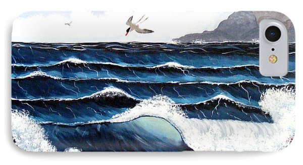 Waves And Tern Phone Case by Barbara Griffin