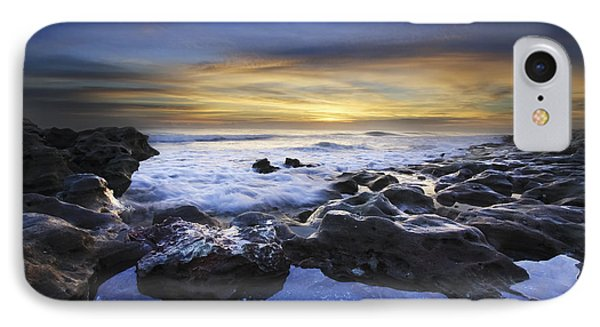 Waves At Coral Cove Beach Phone Case by Debra and Dave Vanderlaan
