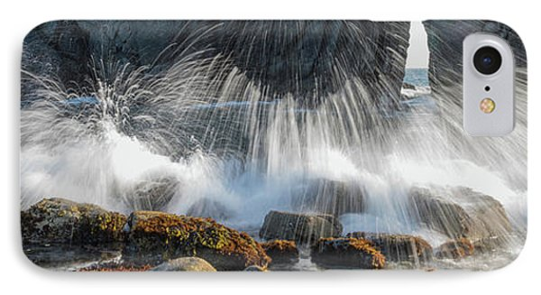 Waves Breaking On Rocks, Harris Beach IPhone Case by Panoramic Images