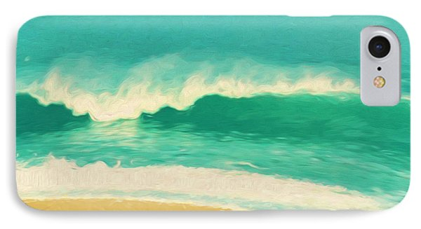 IPhone Case featuring the painting Waves by Douglas MooreZart