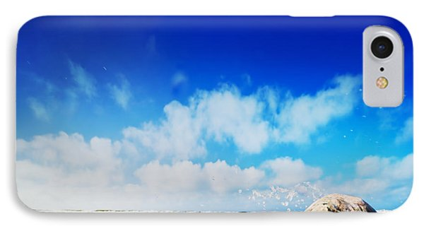Waves Hiting Rocks On The Sunny Beach Phone Case by Michal Bednarek