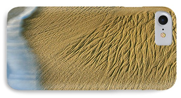 Waves Leave Intricate Sand Patterns IPhone Case