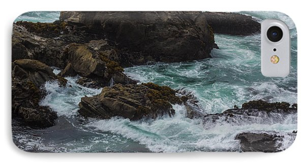 Waves Meet Rock IPhone Case by Suzanne Luft