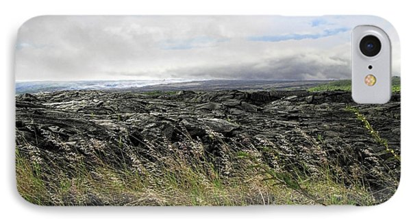 IPhone Case featuring the photograph Waves Of Clouds Sea Lava And Grass by Ellen Cotton