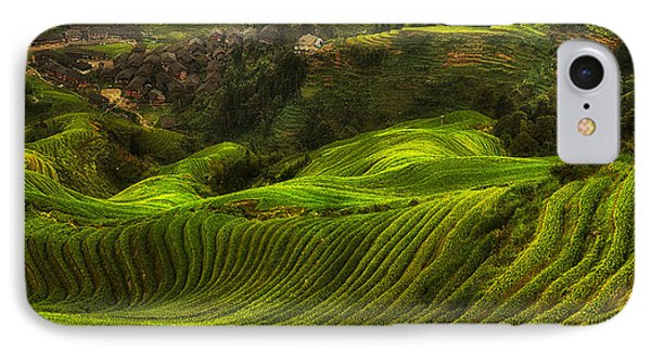 Waves Of Rice - The Dragon's Backbone IPhone Case