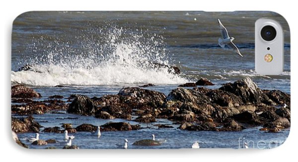 Waves Wind And Whitecaps IPhone Case by John Telfer
