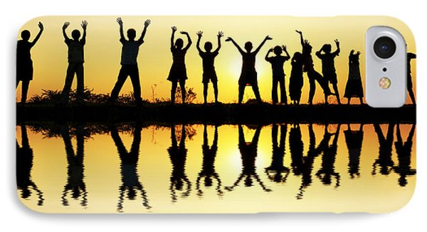 Waving Children IPhone Case by Tim Gainey