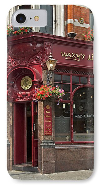 Waxy's Little Sister Pub IPhone Case by Cheri Randolph