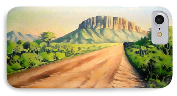IPhone Case featuring the painting Way To Maralal by Anthony Mwangi