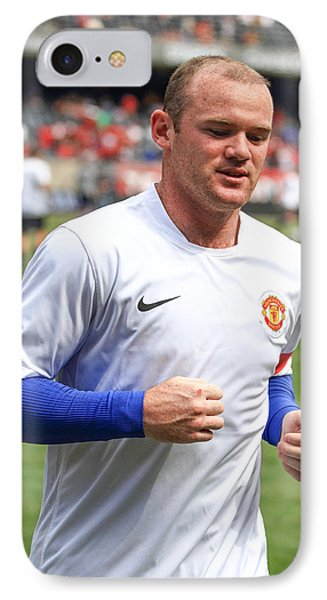 Wayne Rooney 5 IPhone 7 Case by Keith R Crowley