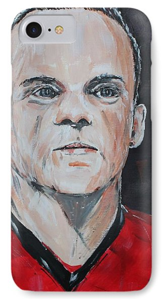 Wayne Rooney IPhone 7 Case by John Halliday