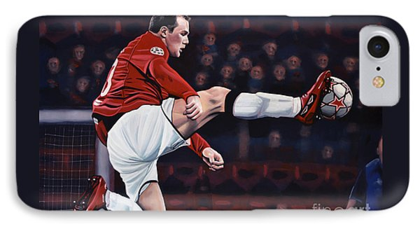 Wayne Rooney IPhone 7 Case by Paul Meijering