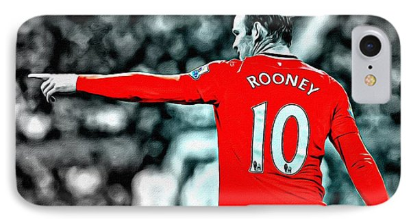 Wayne Rooney Poster Art IPhone 7 Case by Florian Rodarte
