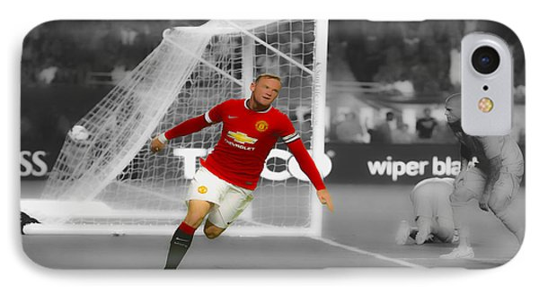 Wayne Rooney Scores Again IPhone 7 Case by Brian Reaves
