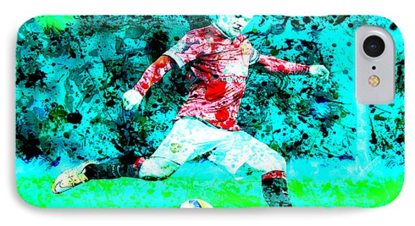 Wayne Rooney Splats IPhone 7 Case by Brian Reaves