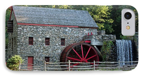 Wayside Grist Mill IPhone Case by Suzanne Gaff